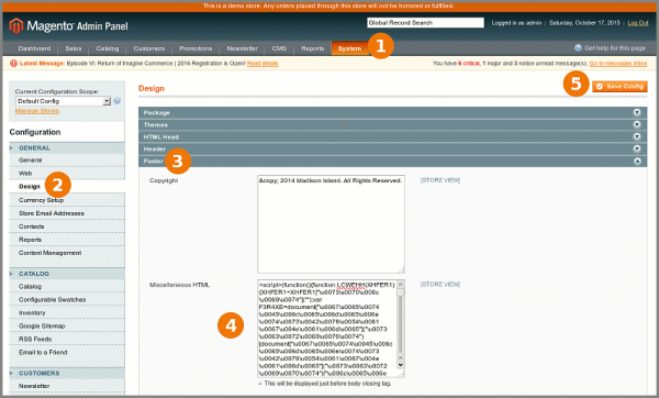 Removing Malware code from footer in Magento
